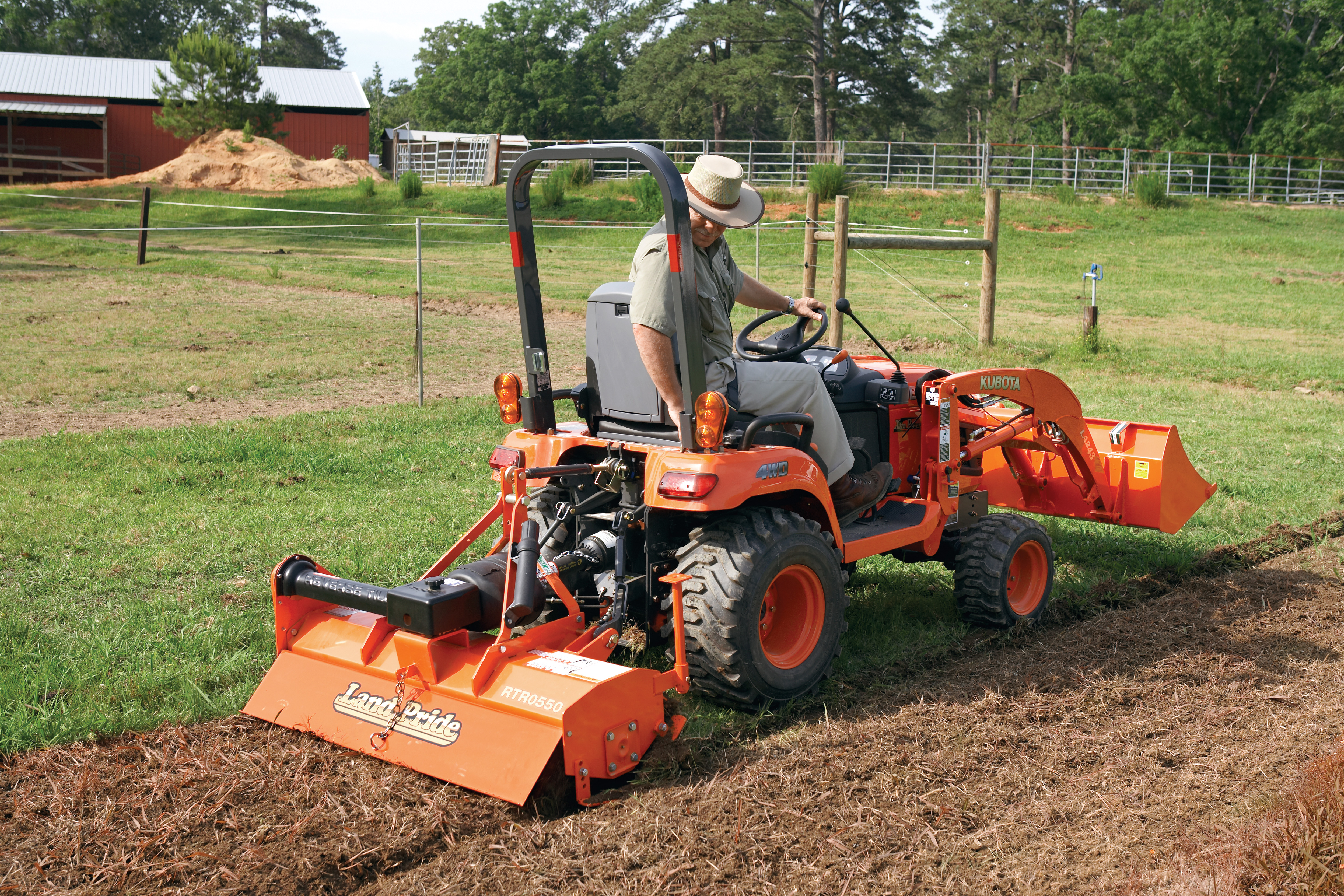 Small Tractor Implements For Gardening : Rtr series rotary tillers land pride